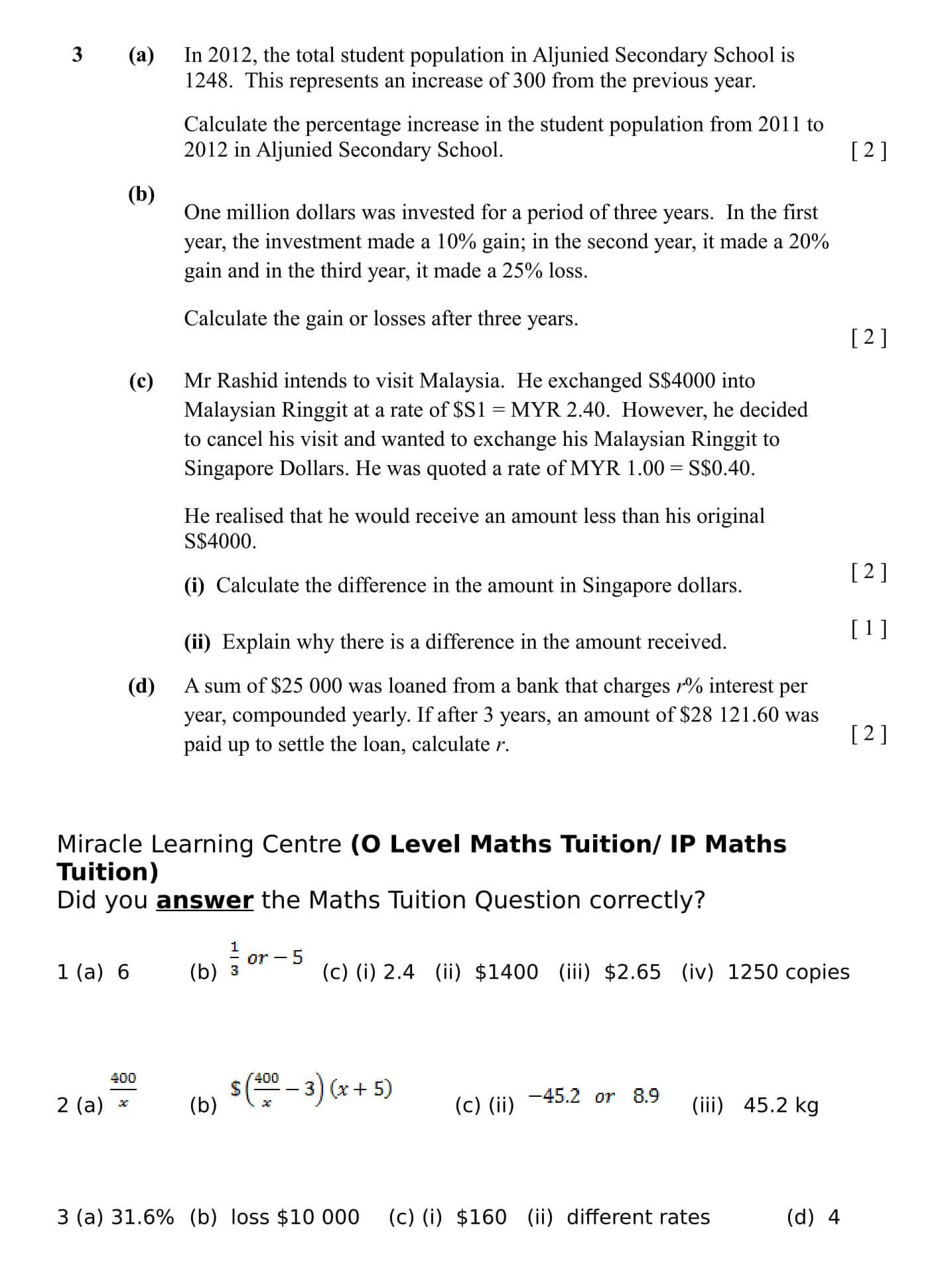 Are you able to answer this Maths Tuition Question?
